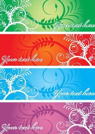 Floral banner, vector
