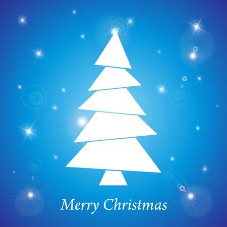 snippet: Christmas tree vector illustration  Illustration