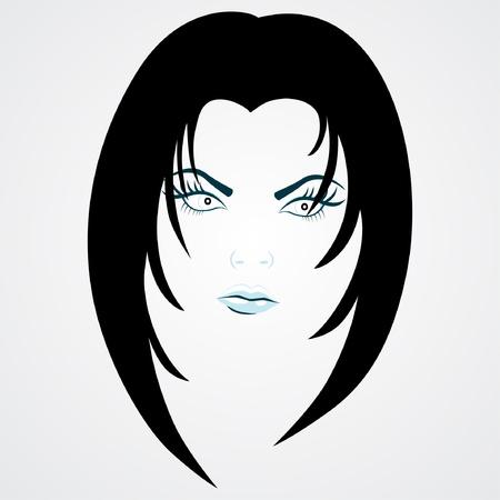 Beauty girl face vector  Vector
