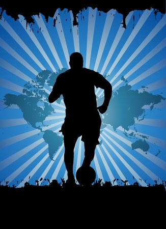 man in field: Soccer player Illustration