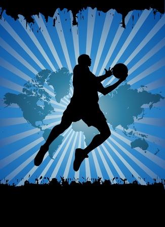 Le joueur de basketball Banque d'images - 12191500