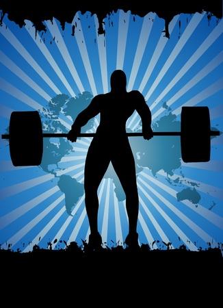 muskeltraining: Gewichtheber-Vektor Illustration