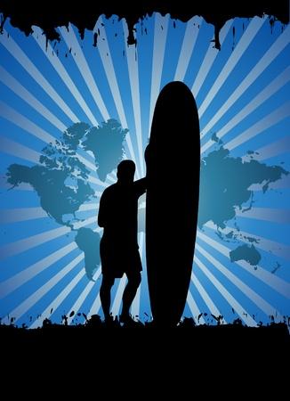 Surfer  Vector