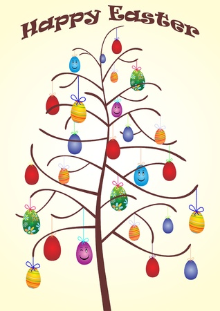 Easter tree vector  Illustration