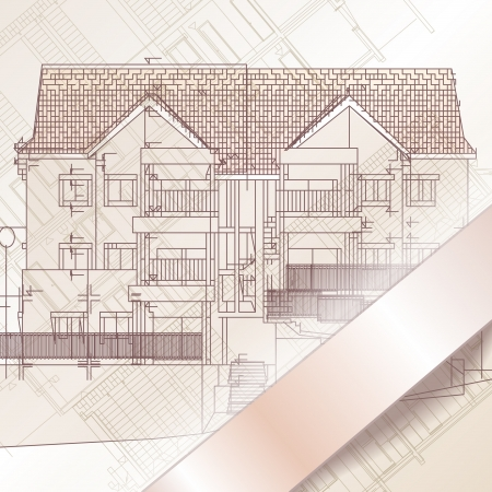 Arrière-plan architectural, la partie du projet architectural. Vecteurs