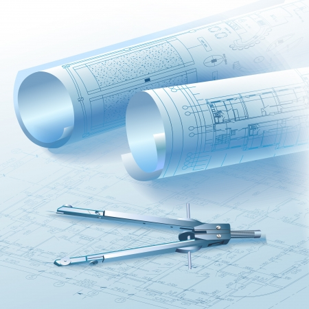 arquitecto: Fondo arquitect�nico, parte del proyecto arquitect�nico. Vectores