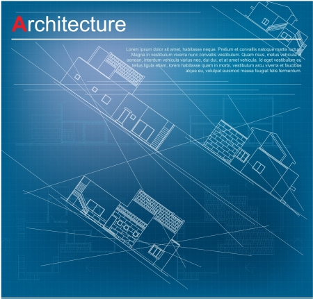 Architectural background  Part of architectural project, architectural plan, technical project, drawing technical letters, architect at work, architecture planning on paper, construction plan Stock Vector - 13914134