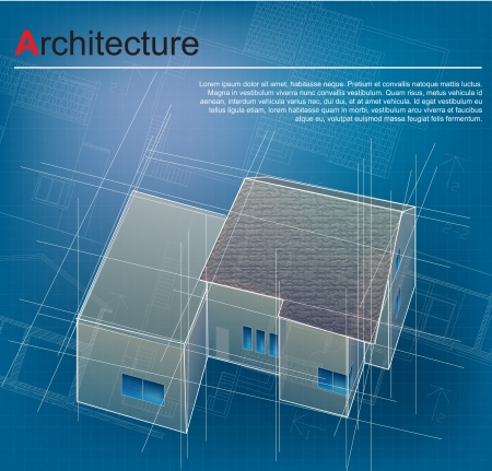 architectural drawing: Urban Blueprint  vector   Architectural background  Part of architectural project, architectural plan, technical project, drawing technical letters, design on paper, construction plan