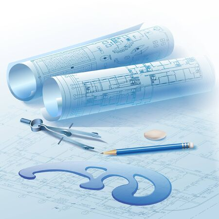 architecture plans: Architectural background  Part of architectural project, architectural plan, technical project, drawing technical letters, architect at work, architecture planning on paper, construction plan