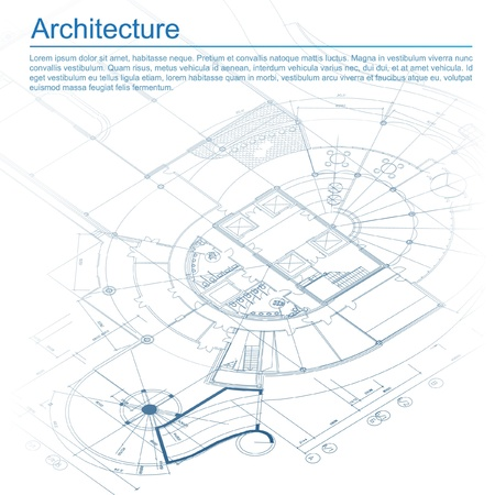 architectural: Architectural background  Part of architectural project, architectural plan, technical project, drawing technical letters, architect at work, architecture planning on paper, construction plan