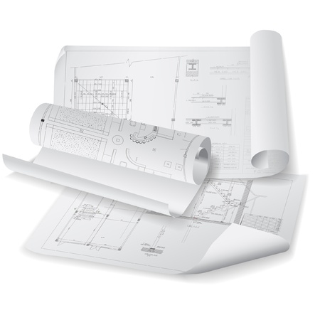 architectural architect: Architectural background  Part of architectural project, architectural plan, technical project, drawing technical letters, architect at work, architecture planning on paper, construction plan