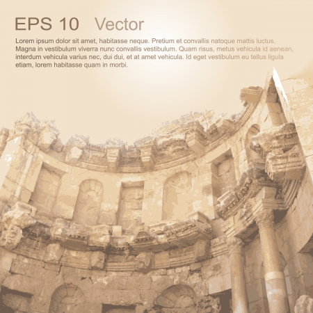 Jerash, 요르단 고대 건축 라사의 고대 도시의 유적