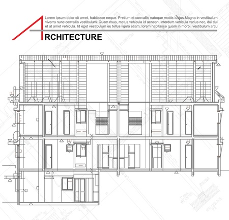 floor plan: Architectural background  Part of architectural project, architectural plan, technical project, drawing technical letters, architect at work, architecture planning on paper, construction plan