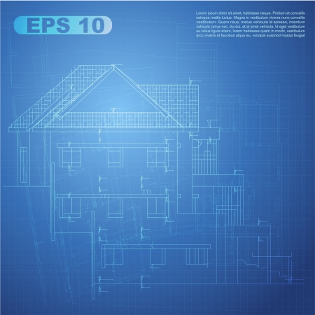 Urban Blueprint  vector   Architectural background  Part of architectural project, architectural plan, technical project, drawing technical letters, design on paper, construction plan Stock Vector - 13914130