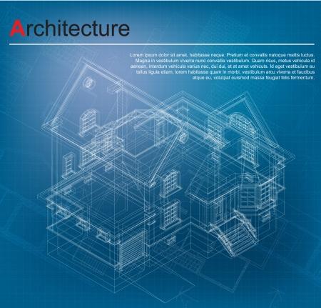 建設: 都市の青写真ベクトル建築背景の建築プロジェクト, 建築計画, 図面テクニカル レター、技術プロジェクトの一部の建設計画、紙の上設計します。
