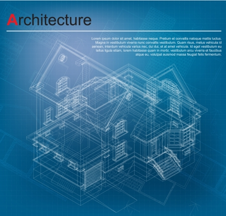 architecture project: Urban Blueprint  vector   Architectural background  Part of architectural project, architectural plan, technical project, drawing technical letters, design on paper, construction plan