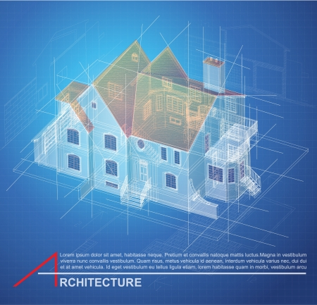 cad drawing: Urban Blueprint  vector   Architectural background  Part of architectural project, architectural plan, technical project, drawing technical letters, design on paper, construction plan