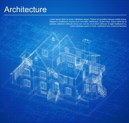 건축가: 건축 프로젝트, 건축 계획, 기술 프로젝트, 기술 편지를 드로잉, 직장에서 건축가, 종이에 건축 계획, 건축 계획의 건축 배경 부 일러스트