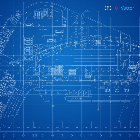 arquitecto: Plan Urbano vector de la parte de fondo sobre la arquitectura del proyecto arquitectónico, proyecto arquitectónico, proyecto técnico, dibujo técnico las letras, el diseño sobre el papel, el plan de construcción