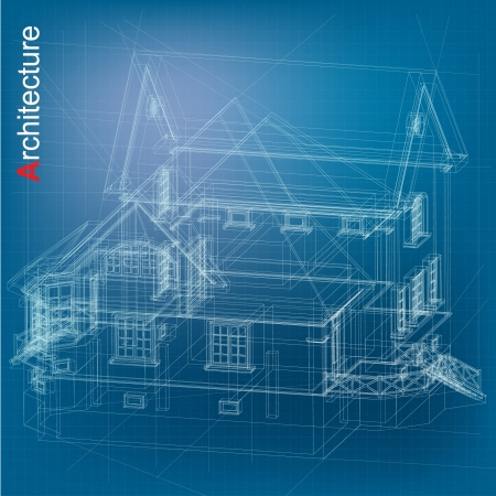 Urban Blueprint  vector   Architectural background Vector