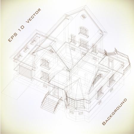 dibujo tecnico: Parte de fondo sobre la arquitectura del proyecto arquitectónico, proyecto arquitectónico, proyecto técnico, dibujo técnico letras, arquitecto en la planificación de la arquitectura de trabajo, en el papel, el plan de construcción