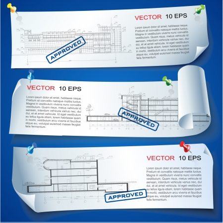 Set of vector sample stickers on neutral background for various use   Illustration