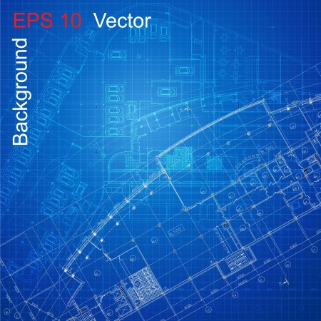 Urban Blueprint Architectural background Vector