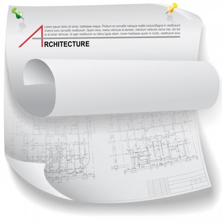 construction plan: Conceptual architectural background  Part of architectural project, architectural plan, technical project, drawing technical letters, architecture planning on paper, construction plan
