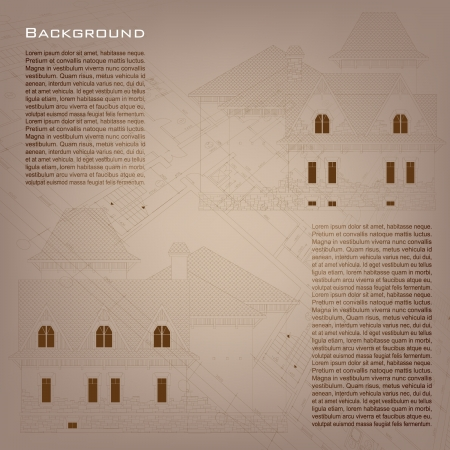 Architectural background  Part of architectural project, architectural plan, technical project, drawing technical letters, architecture planning on paper, construction plan Vector