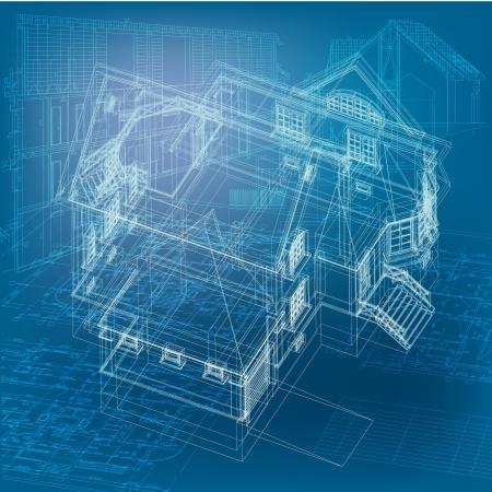 Urban Blueprint  vector  Ilustração