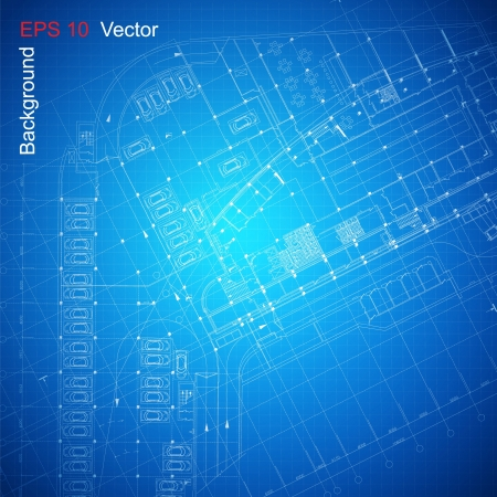 Urban Blueprint  vector    Vector