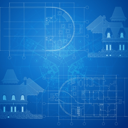 drafting: Urban Blueprint  vector