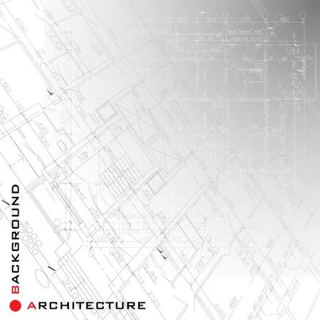 Architektonische Hintergrund Teil des architektonischen Projekt, architektonischen Plan, technischer Projektleiter, Technischer Briefe, Architekt bei der Arbeit, Architekturplanung auf Papier, Bauplan