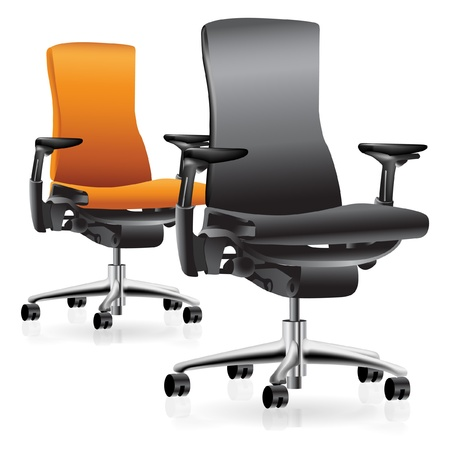 office furniture: Set of two office chairs Illustration