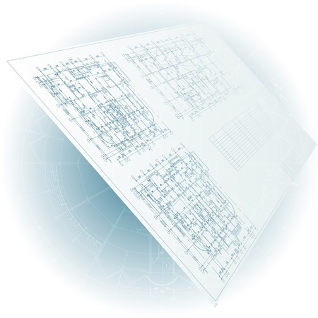 building blueprint: Architectural background  Part of architectural project, architectural plan, technical project, drawing technical letters, architect at work, architecture planning on paper, construction plan