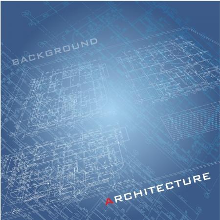 dibujo tecnico: Parte fondo arquitect�nico del proyecto arquitect�nico, proyecto arquitect�nico, proyecto t�cnico, dibujo cartas t�cnicas, planificaci�n de la arquitectura en papel, plan de construcci�n Vectores
