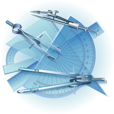 topografo: Juego de Herramientas de Dibujo s�mbolo Ingenier�a clip-art Vectores