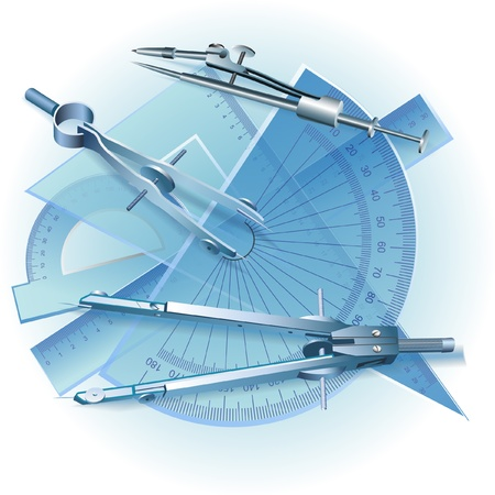triangle objects: Set of Drawing Tools  Engineering symbol  clip-art