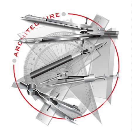 parallelism: Set of Drawing Tools  Engineering symbol  clip-art