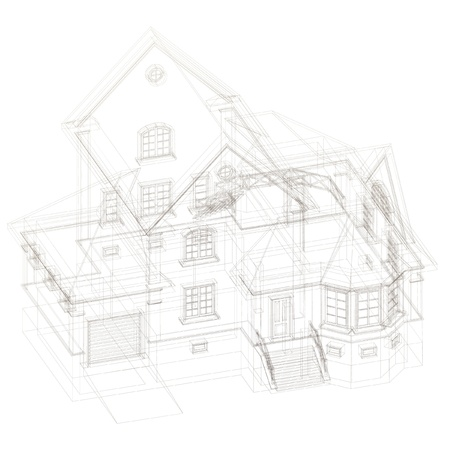floor plan: Architectural background with a 3D building model