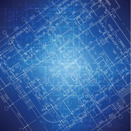 Urban Blueprint architectural background   Иллюстрация