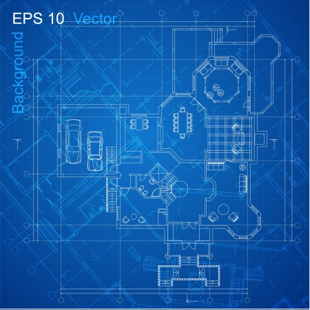 Urban Blueprint  vector   Architectural background  Part of architectural project, architectural plan, technical project, drawing technical letters, design on paper, construction plan Vector