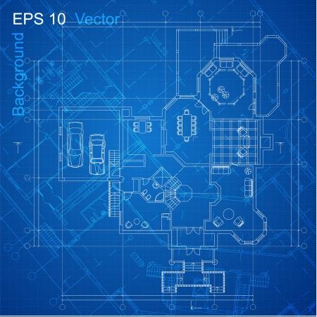 piano di progetto: Urbano Blueprint vettore architettonico Parte sfondo del progetto architettonico, progetto architettonico, progetto tecnico, disegno tecnico lettere, disegno su carta, piano di costruzione Vettoriali