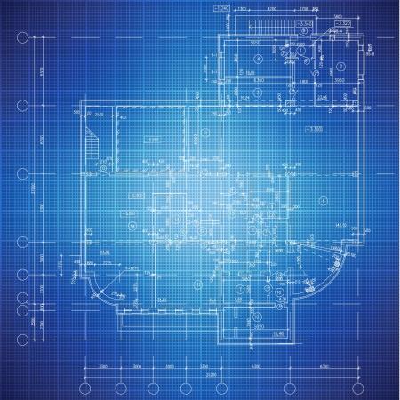 blueprint: Urban Blueprint  vector -  Architectural background