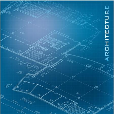 Urban Blueprint  vector -  Architectural background Stock Vector - 19145016