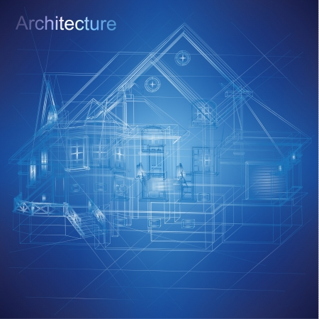architectural drawing: Urban Blueprint  vector -  Architectural background