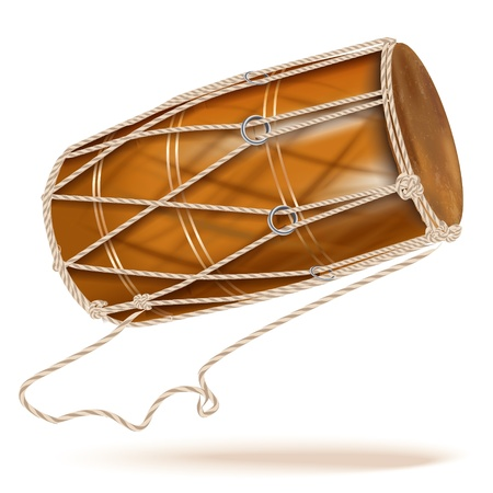 djembe: Musical background series - Traditional chau gong  tam-tam , isolated on white background Illustration