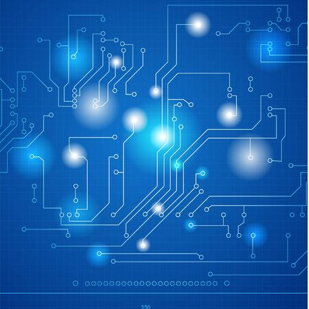 Abstract hi-tech electronic background - Circuit board pattern Vector