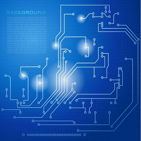 high way: Abstract hi-tech electronic background - Circuit board pattern