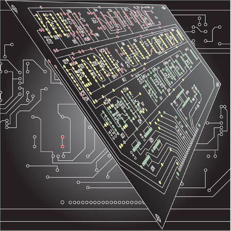 electronic circuit: Abstract hi-tech electronic background - Circuit board pattern